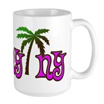Palms over Albany - Large Mug