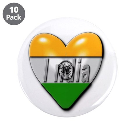 "India 3.5"" Button (10 pack)"