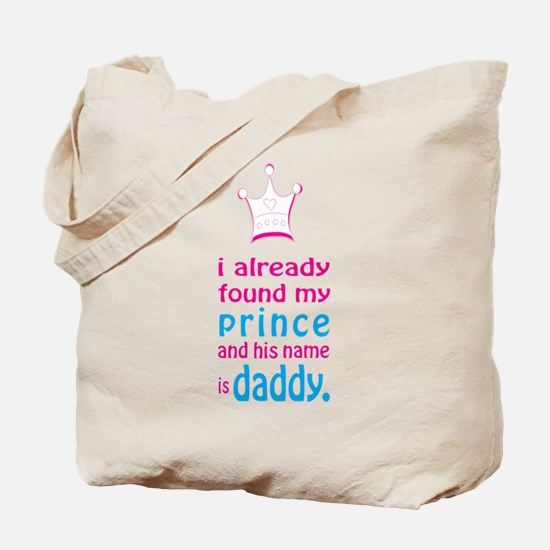 Funny Daddy and baby Tote Bag