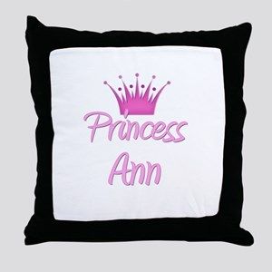 Princess Ann Throw Pillow