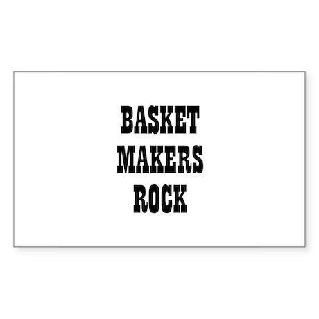 BASKET MAKERS ROCK Rectangle Sticker