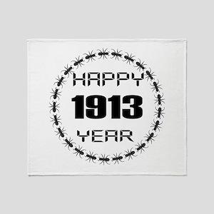 Happy 1913 Year Designs Throw Blanket
