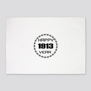 Happy 1913 Year Designs 5'x7'Area Rug