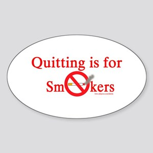 Quit Smoking Oval Sticker