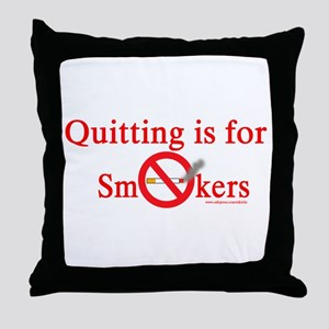 Quit Smoking Throw Pillow