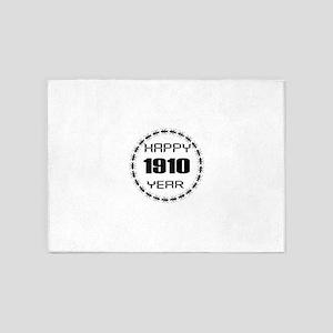 Happy 1910 Year Designs 5'x7'Area Rug