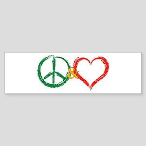 X-mas Peace & Love Bumper Sticker
