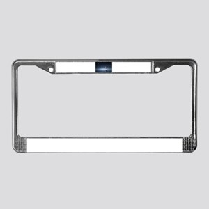 Travelling Across Space and Ti License Plate Frame
