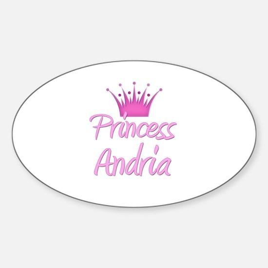 Princess Andria Oval Decal