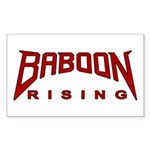 Baboon Rising Rectangle Sticker