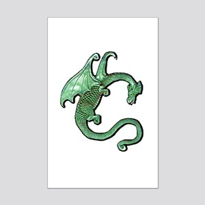 Pewter Dragon 4 Mini Poster Print