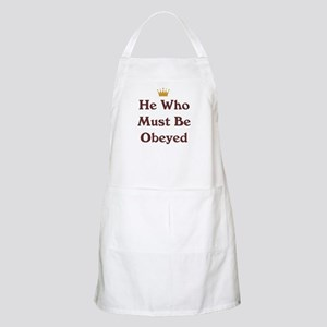 He Who Must Be Obeyed BBQ Apron