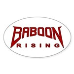 Baboon Rising Oval Sticker