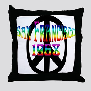 San Francisco 1968 Throw Pillow