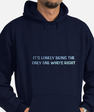 """Lonely Being Right"" Hoodie (dark)"