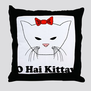 O Hai Kittay Throw Pillow