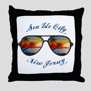 New Jersey - Sea Isle City Throw Pillow