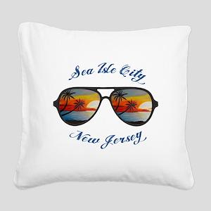 New Jersey - Sea Isle City Square Canvas Pillow