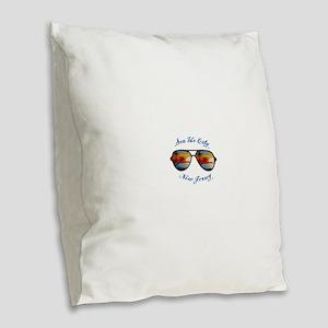 New Jersey - Sea Isle City Burlap Throw Pillow