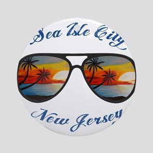 New Jersey - Sea Isle City Round Ornament