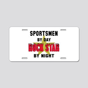 Sportsmen By Day, Rock Star Aluminum License Plate