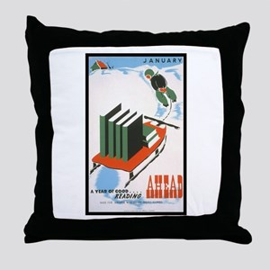 A Year of Good Reading Throw Pillow