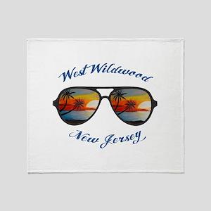 New Jersey - West Wildwood Throw Blanket