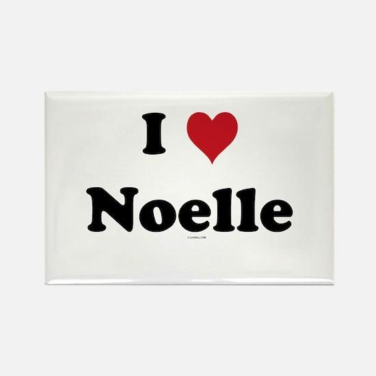 I love Noelle Rectangle Magnet