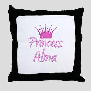 Princess Alma Throw Pillow