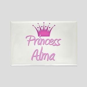 Princess Alma Rectangle Magnet