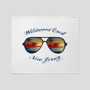 New Jersey - Wildwood Crest Throw Blanket