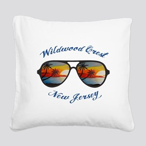New Jersey - Wildwood Crest Square Canvas Pillow