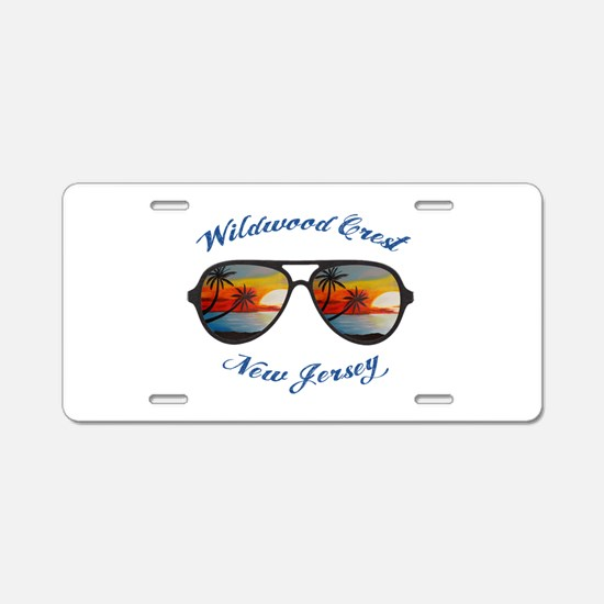New Jersey - Wildwood Crest Aluminum License Plate