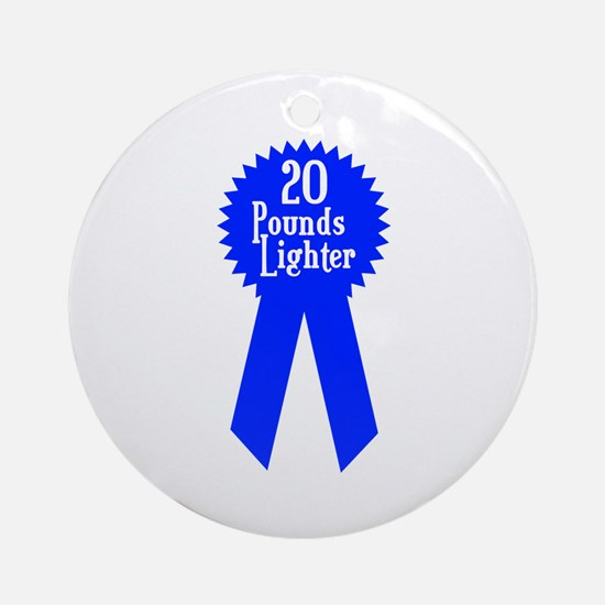 20 Pounds Award Ornament (Round)