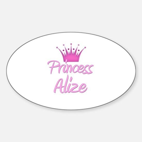 Princess Alize Oval Decal