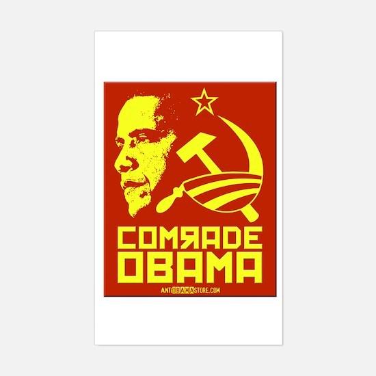 Comrade Obama Rectangle Decal