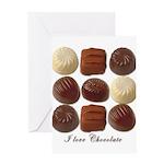 I Love Chocolate Valentine Card