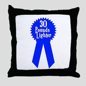 30 Pounds Award Throw Pillow