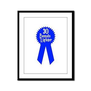 30 Pounds Award Framed Panel Print