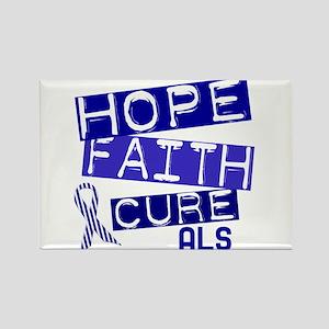 Hope Faith Cure ALS Rectangle Magnet