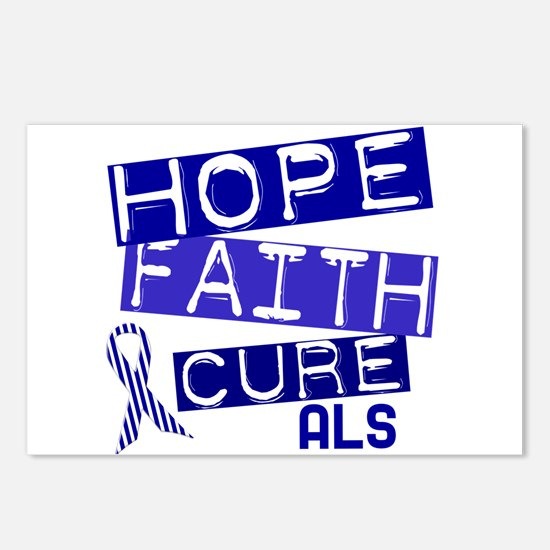 Hope Faith Cure ALS Postcards (Package of 8)