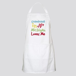 Someone in Michigan Loves Me BBQ Apron