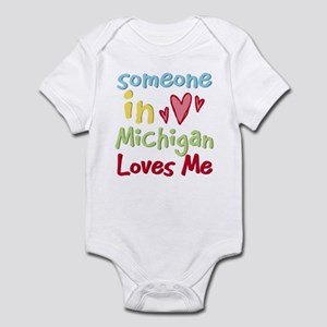 Someone in Michigan Loves Me Infant Bodysuit