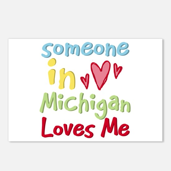Someone in Michigan Loves Me Postcards (Package of