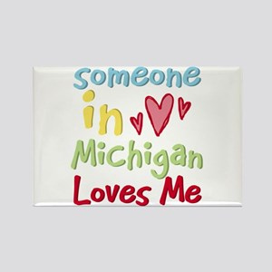 Someone in Michigan Loves Me Rectangle Magnet