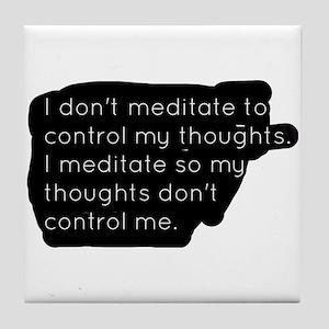 Meditation Tile Coaster