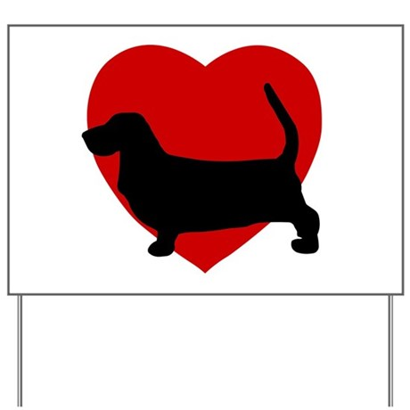 Basset Hound Valentine's Day Yard Sign