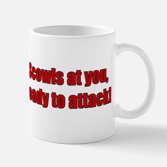 Scowls at you Mug