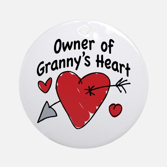 OWNER OF GRANNY'S HEART Ornament (Round)
