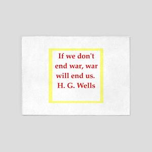 H. G. wells 5'x7'Area Rug
